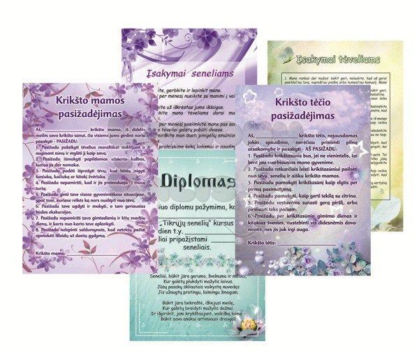 pasižadėjimai, diplomai, palinkėjimai krikštynoms