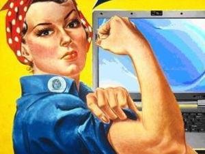 moterys dirba